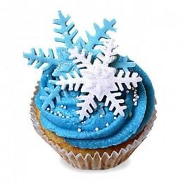 Iced Christmas Cupcakes-set of 6