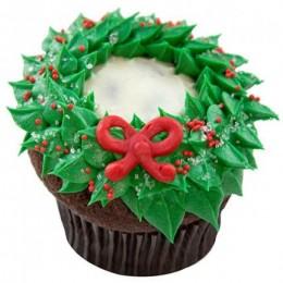 Choco Cream Christmas Cupcake-set of 6