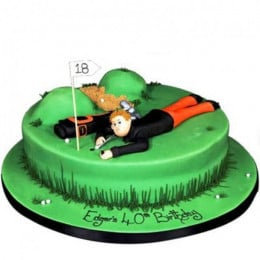 Stunning Golf Course Cake - 2 KG
