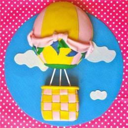 Funky Fondant Balloon Cake - 2 KG