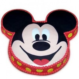 Soft Mickey Face Cake - 2 KG