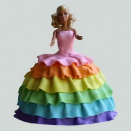 Splash Of Colours Barbie Cake - 2 KG