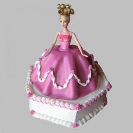 Florid Barbie Cake - 2 KG