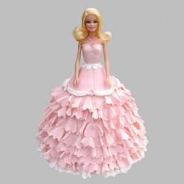 Pink Floral Barbie Cake - 2 KG