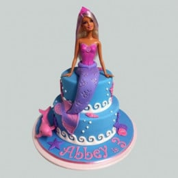 Cute Mermaid Barbie Cake - 2 KG
