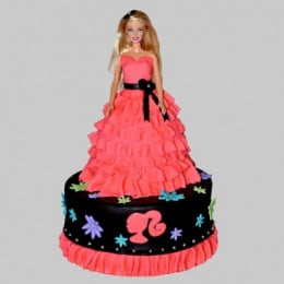 Wavy Dress Barbie Cake - 2 KG