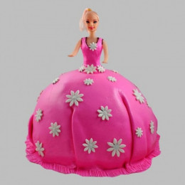 Pink Delight Barbie Cake - 2 KG