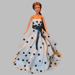 Polka Dots Dress Barbie Cake - 2 KG