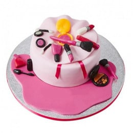 Make Up Bag Fondant Cake - 1 KG