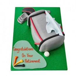 Golf Bag Fondant Cake - 2 KG