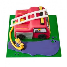 Fire Engine Fondant Cake - 3 KG