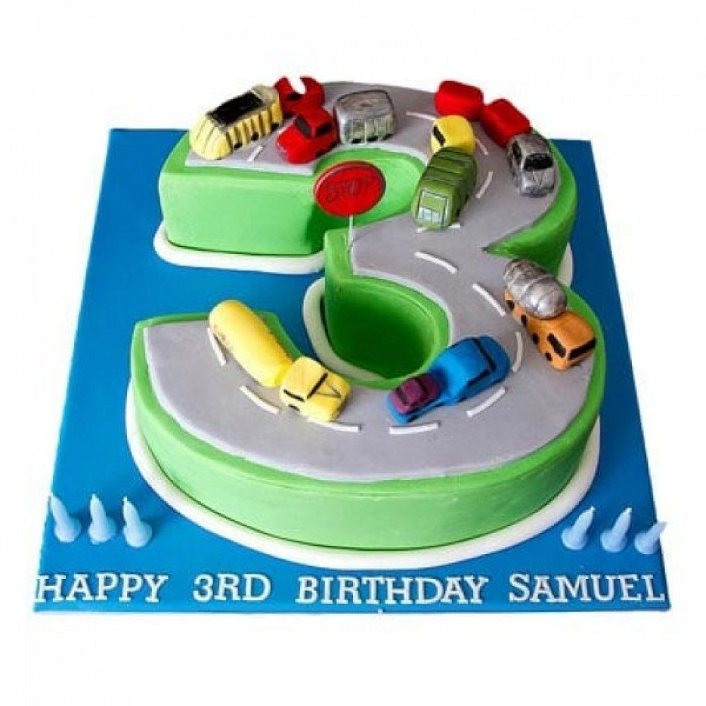 3 Kg Cars Birthday Cake Is A Fondant And It Can Be Ordered In 2 K