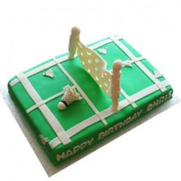 Smashing Badminton Court Cake - 2 KG