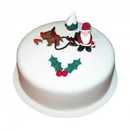 Happy Santa Christmas Cake - 1 KG