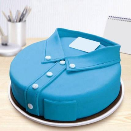 Blue Shirt Fondant Cake - 2 KG