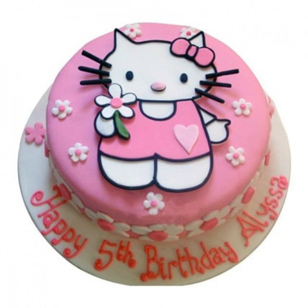 Stupendous 1 Kg Hello Kitty Birthday Cake Is A Fondant And It Can Be Ordered Birthday Cards Printable Benkemecafe Filternl