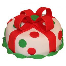 Fondant Christmas Cake - 500 Gm