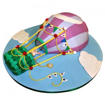 Balloon Ride Fondant Cake - 2 KG