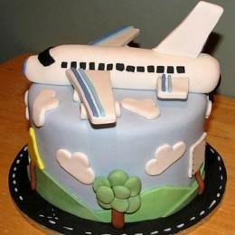 Airplane Fondant Cake - 4 KG