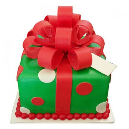 Gift Box Christmas Cake - 1 KG