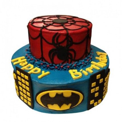 Dual Bat N Spiderman Cake - 3 KG