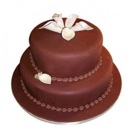 2 Tier Fondant Truffle Cake - 3 KG