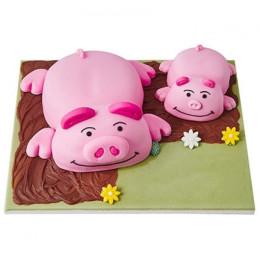 Piggie Fondant Cake - 3 KG