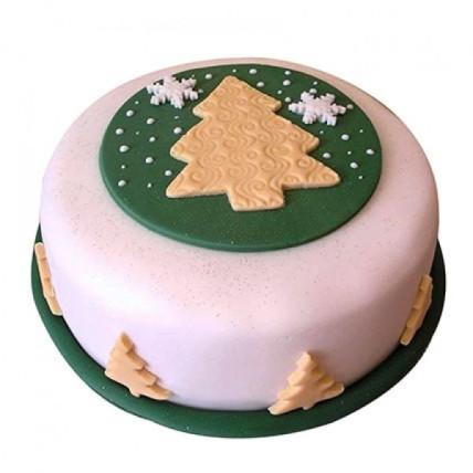 Xmas Tree Fondant Cake - 500 Gm