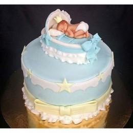 Baby In Dreamland Fondant Cake - 4 KG