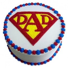 Super Cake For A Super Dad - 500 Gm