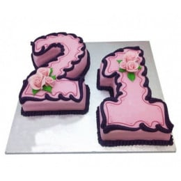 Numeric Birthday Cake - 3 KG