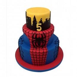 3 Tier Spiderman Web Cake - 5 KG