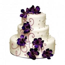 Glamorous Wedding Cake - 5 KG