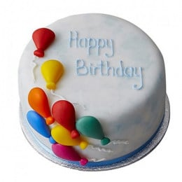 Birthday Balloon Fondant Cake - 500 Gm