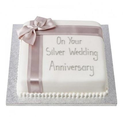25Th Year Fondant Cake - 1 kg