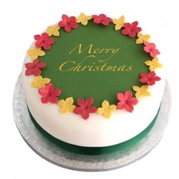 Colorful Christmas Fondant Cake - 500 Gm