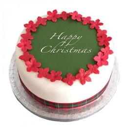 Christmas Fondant Cake - 500 Gm