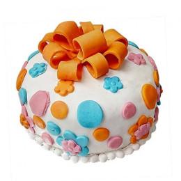 Fondant Baby Bash Cake - 500 Gm