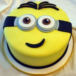 Yellow Minion Cake - 500 Gm