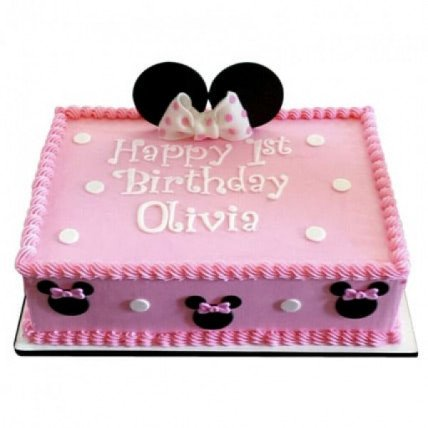 Lovely Pink Minnie Mouse Cake - 500 Gm