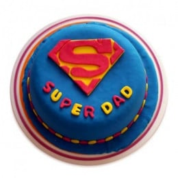Super Dad Designer Cake - 500 Gm