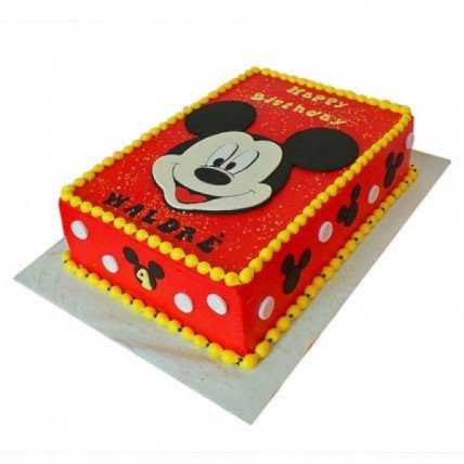 Red Mickey Mouse Cake - 500 Gm
