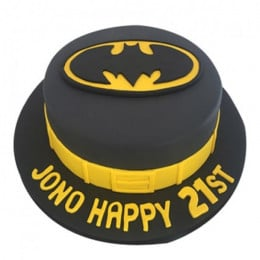 Batman Fondant Cake - 500 Gm