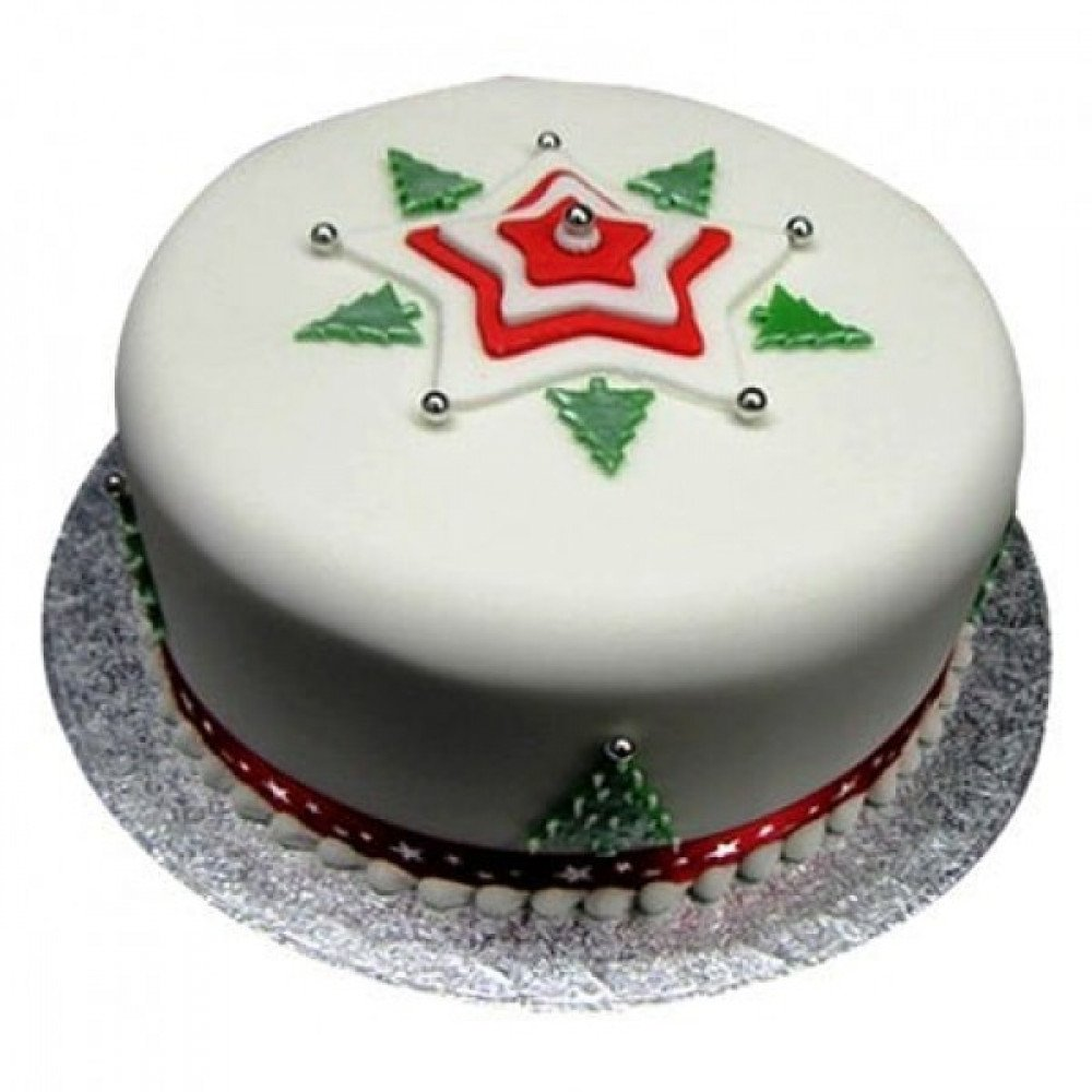 1 Kg Christmas Tree Cake Is A Fondant And It Can Be Ordered In 50