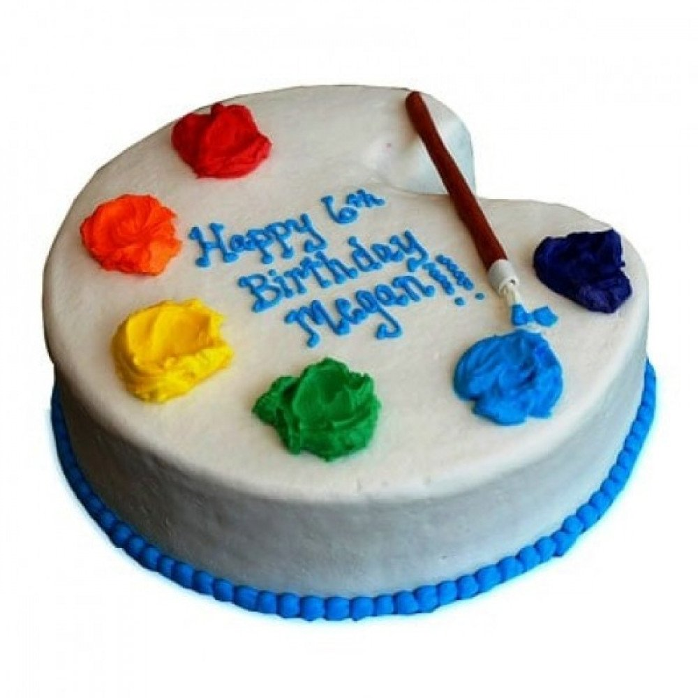 Artist Birthday Cake Is A Fondant And It Can