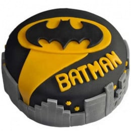 Glitzyy Batman City Cake - 1 KG