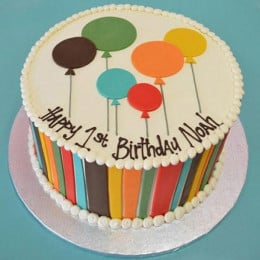 Shades Of Balloons Cake - 500 Gm