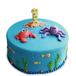 Baby Sea Animals Cake - 1 KG