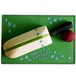 Splendid Cricket Bat Ball Cake - 1 KG