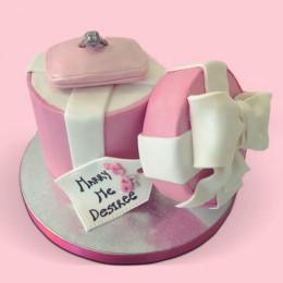 Engagement Fondant Cake - 2 KG